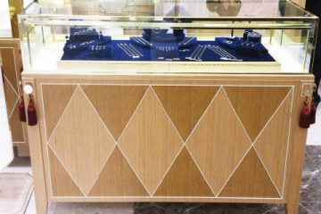 ジュエリー店舗の複合素材で作った什器
