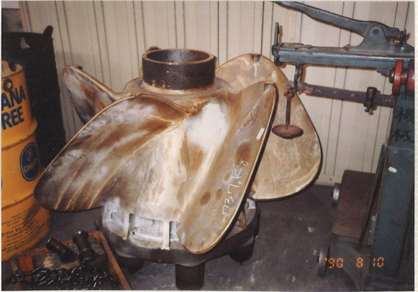 プロペラ鋳造用木型