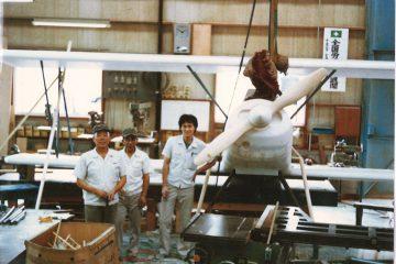 プロペラ飛行機モックアップ(木工)
